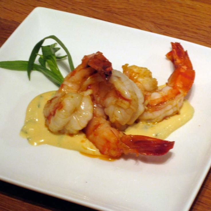 Tapas: prawns with tarragon mayonaise.
