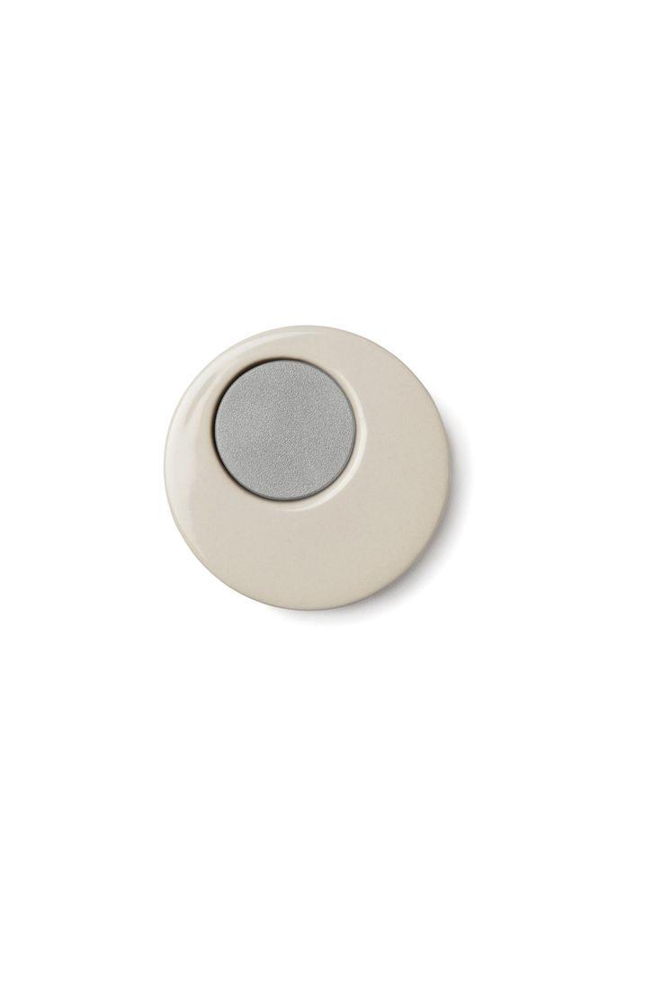 Kahler Magna Ceramic Knife Magnet - 70mm (2.8 In.) (Light Gray)