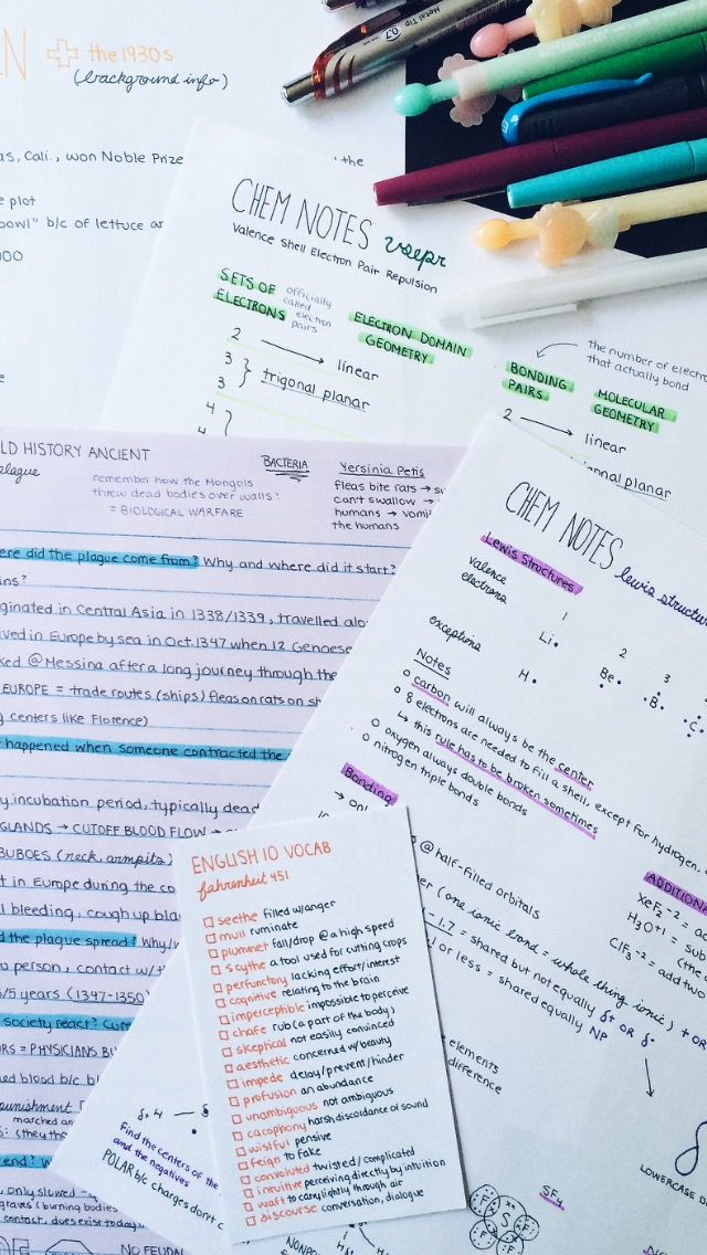 "cw0630: ""I just rewrote all of my sloppy notes so they're easier to study from! I have final exams in 2 weeks and I am so NOT readyyyyy  """