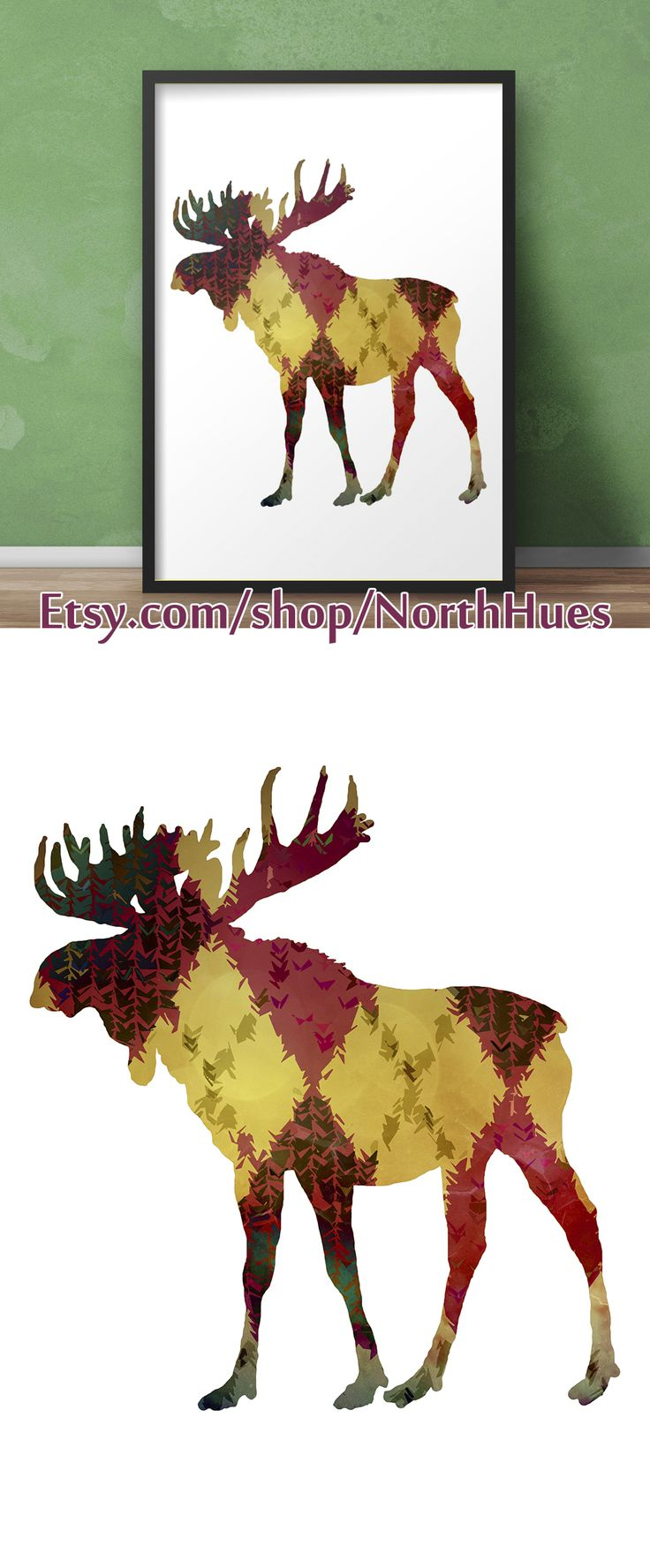 ✿ Moose Poster - Color Pattern - Instant Download ✿   https://www.etsy.com/no-en/listing/539488239/moose-poster-color-pattern-instant?ref=shop_home_active_10