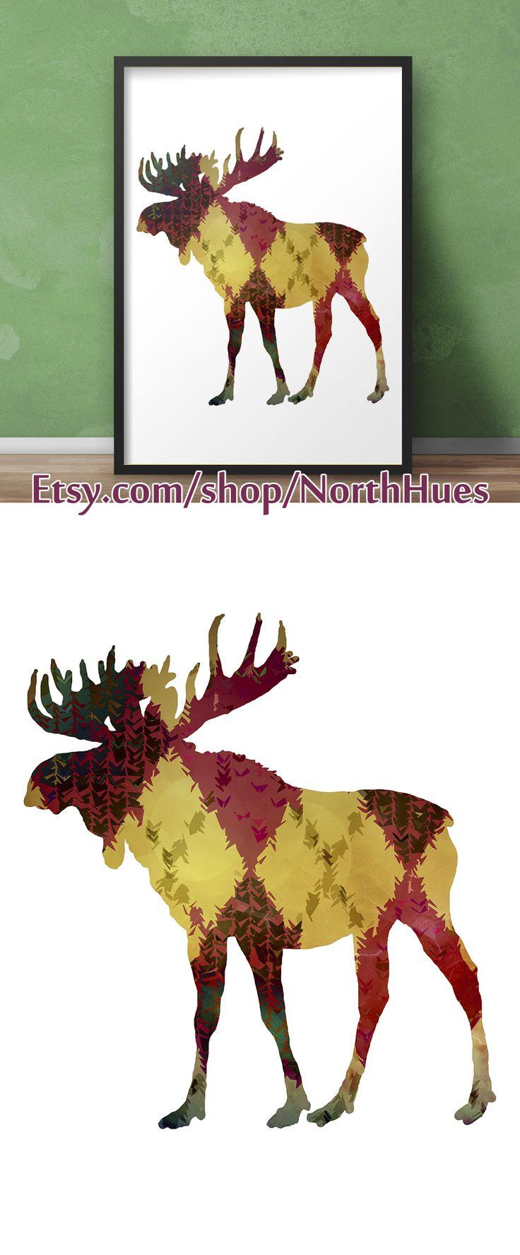 ✿ Moose Poster - Color Pattern - Instant Download ✿   https://www.etsy.com/no-en/listing/539488239/moose-poster-color-pattern-instant?ref=shop_home_active_10