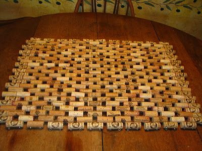 Wine cork door mat - something to do with all those corks I save! ;-)