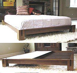 platform beds low platform beds japanese solid wood bed frame - Low Rise Bed Frame