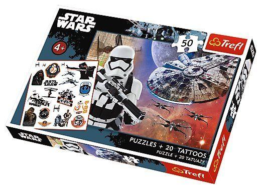Puzzle pro děti TREFL 50 dílků + 20 tetování - Star Wars