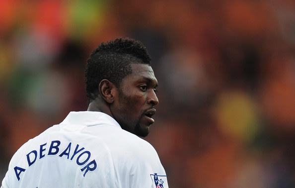 Emmanuel Adebayor of Tottenham Hotspur.