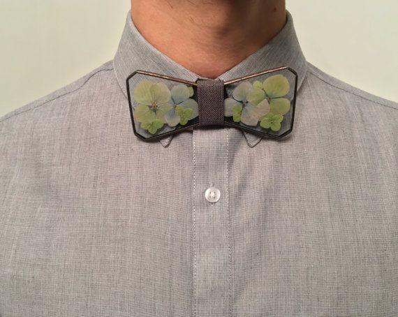 Glass bow tie Hydrangea bow tie Herbarium by terezavarga on Etsy