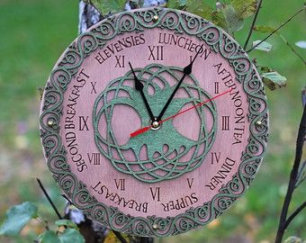 Celtic Meal Times meal planning kitchen clocks wall personalized clocks wall clock unique large clock celtic knot ring irish blessing decor