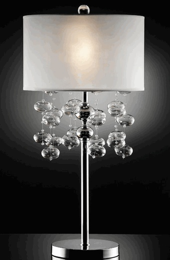 Bubble chandelier floor lamp · house lightingdrum shadeglass table