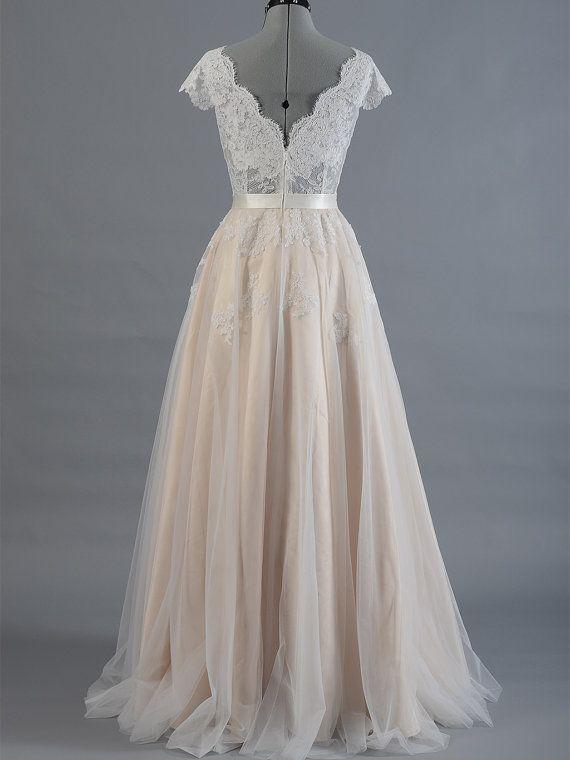 Lace wedding dress wedding dress bridal gown cap sleeve