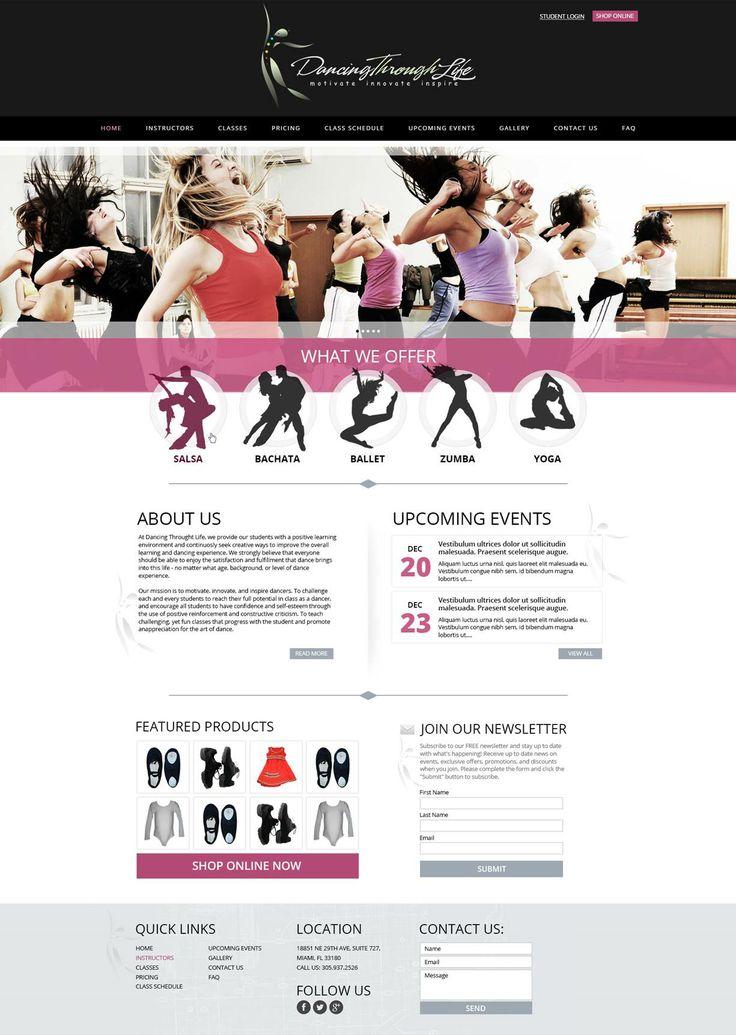 Över 1 000 bilder om Dance Studio Web Design på PinterestKanada ...
