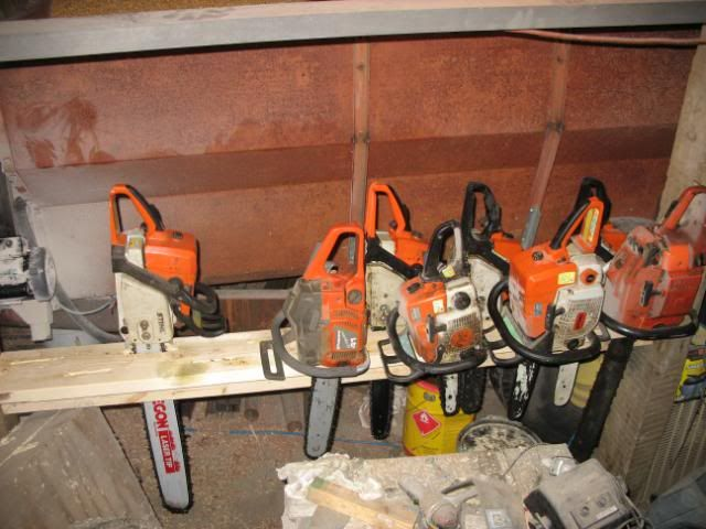 Chainsaw Storage Rack Ideas Storage Wood Storage