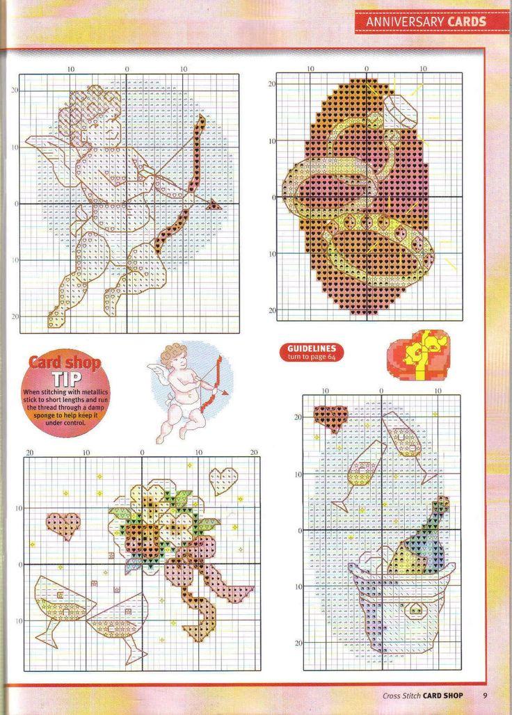 Смешные, схемы для вышивки крестом свадебная открытка