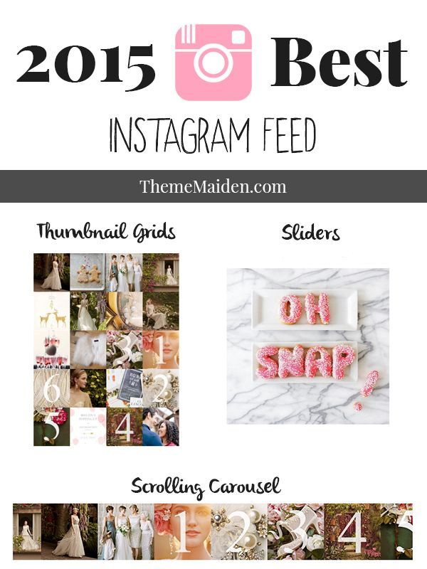 2015 Best Instagram Feed & Plugin for your Blog | Theme Maiden