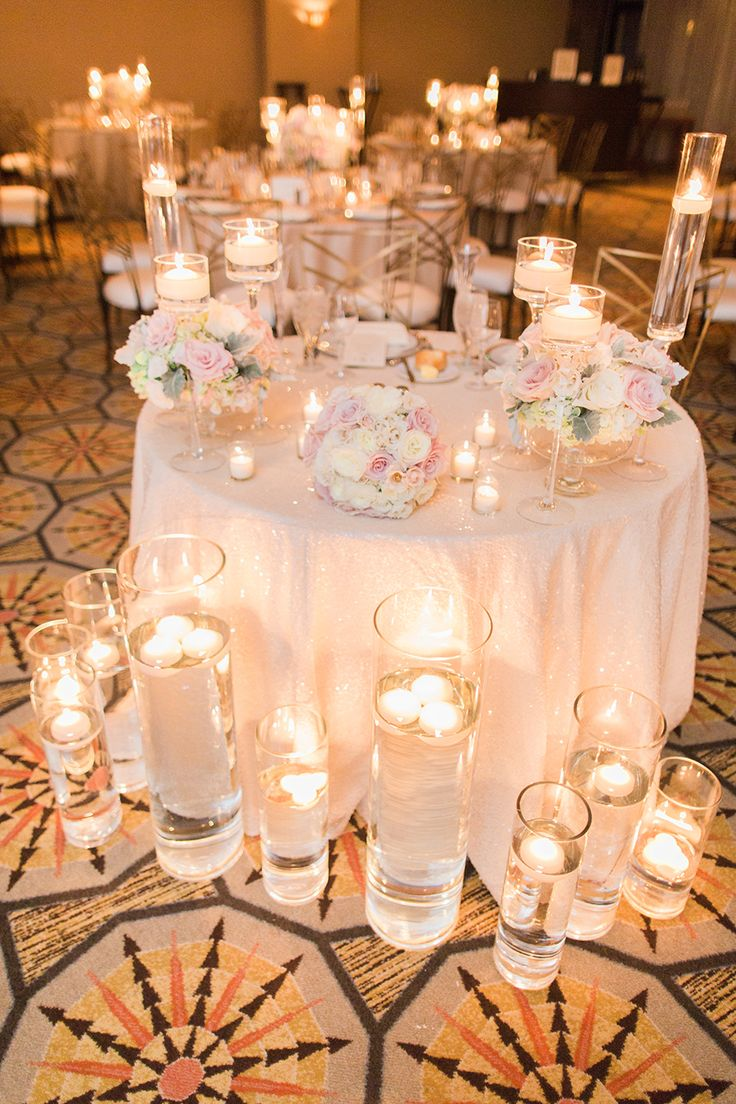 Candle lit wedding reception @weddingchicks