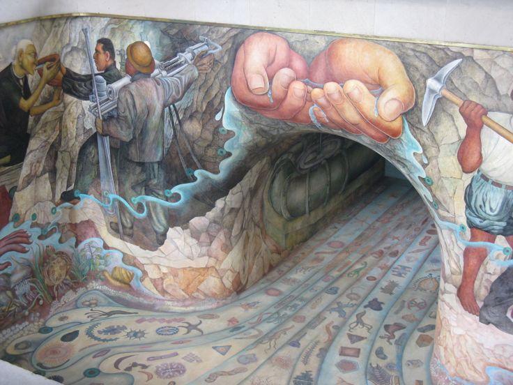 El agua origen de la vida de mural de diego rivera for Mural de rivera