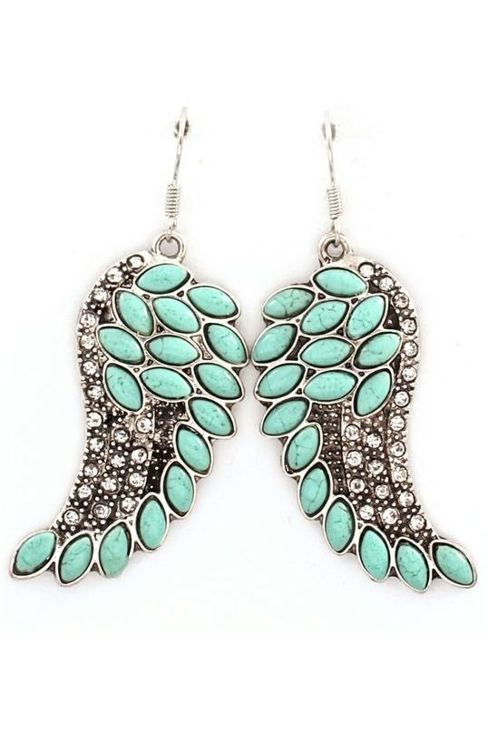 Turquoise Angel Wing Earrings ♥
