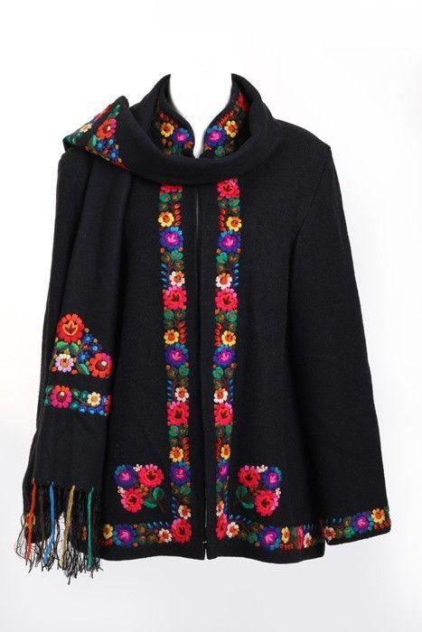 Hungarian folk coat circa 1955's made in by Hungary, TheGreenPoetCloset