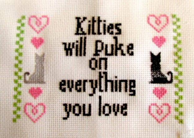 These 25 Cross Stitch Patterns Are The Perfect Sarcastic Compliment To Your Home - Dose - Your Daily Dose of Amazing