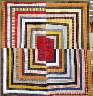 Quilt Inspiration: Waste not, want not: Quilts from reclaimed clothingDeb Rowden, Quilt Inspiration, Housetop Quilt, Quilt Ideas, Dazzle Housetop, Brackman Materials, Barbara Brackman, Reclaimed Clothing, Logs Cabin