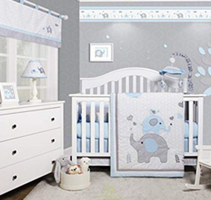 Boy Elephant Nursery Theme Ideas With Images Grey Baby Room