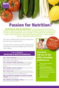 New online course Nutrition & Health Essentials - great for anybody with a passion or interest in Nutrition for themselves, their kids or family.