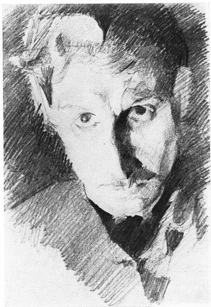 Mikhail Vrubel, self portrait, c. 1885