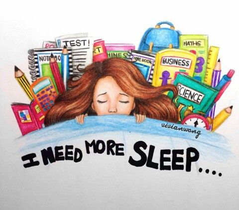 In desperate need for more sleep                                                                                                                                                                                 More
