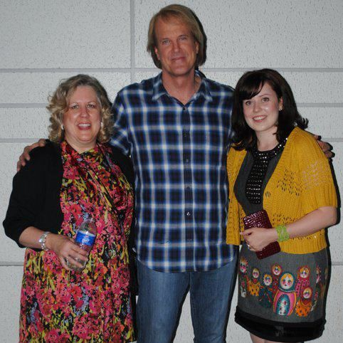My daughter and I together with a contest I won to see John Tesh Big Band Special in LA