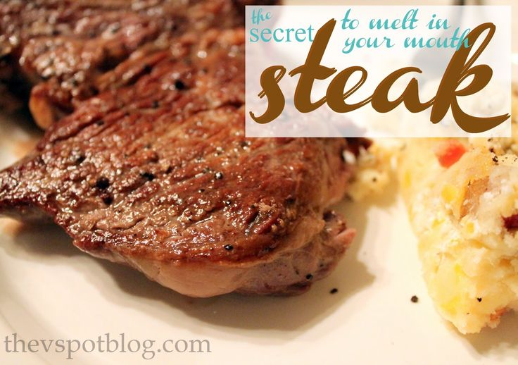 The secret to melt in your mouth steaks... (Make cheap-o cuts taste like prime.) - The V Spot