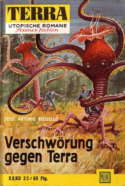 """⇢   http://monsterbrains.blogspot.com/2011/01/terra-german-science-fiction-magazine.html ⇢  sciencefictioncreature fromGermany     ⇢  """"Terra25""""   ⇢  JohnnyBruck"""