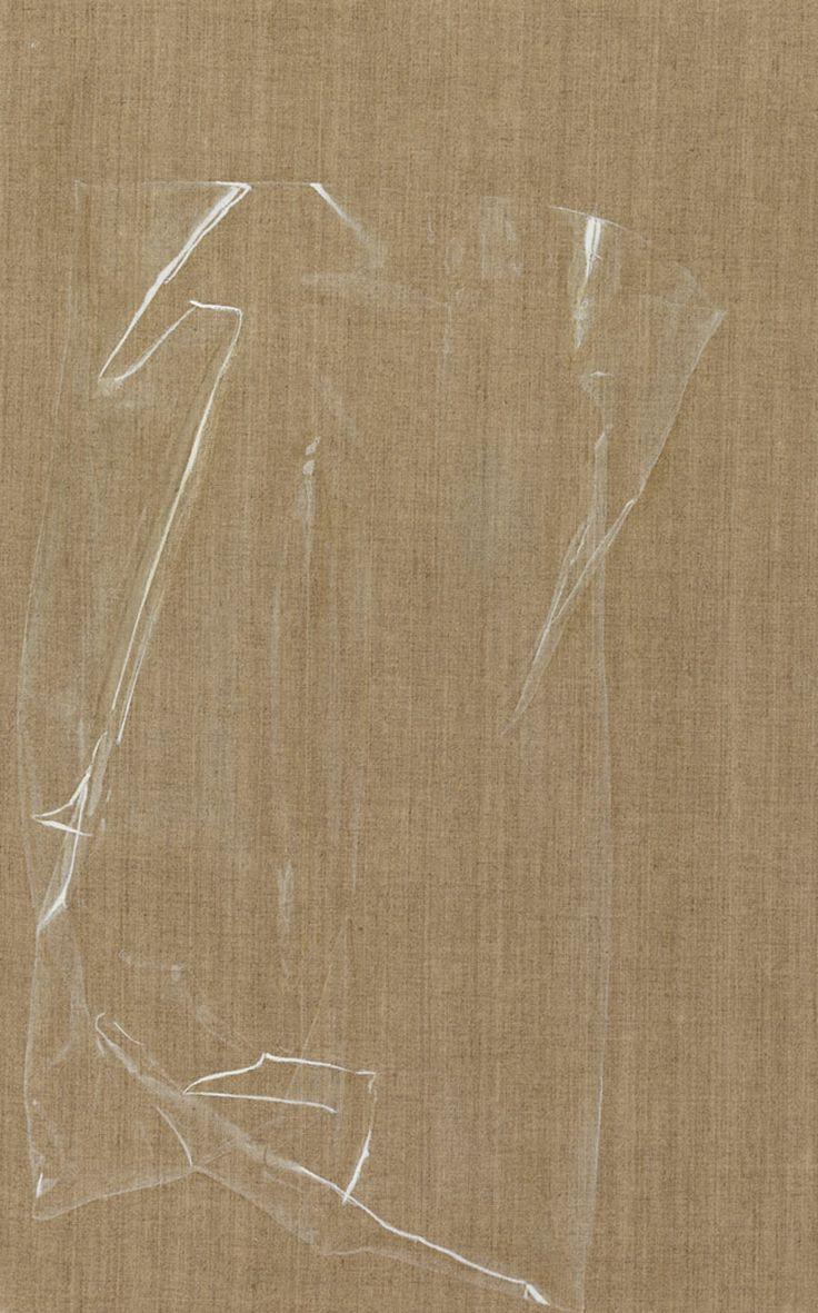Helene Appel, Bag, 2013, watercolour and oil on canvas, cm.70x44... P420 Arte Contemporanea