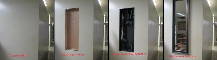 Tactical Wall Insert for Hidden / Secret Gun Storage Compartment.