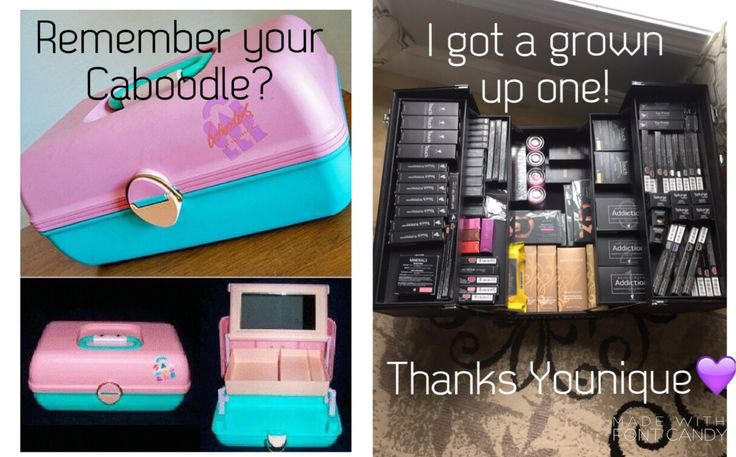Younique Makeup Trunk vs. Caboodle imyourmascaragirl.com