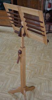 Notenständer, Music stand, woodworking