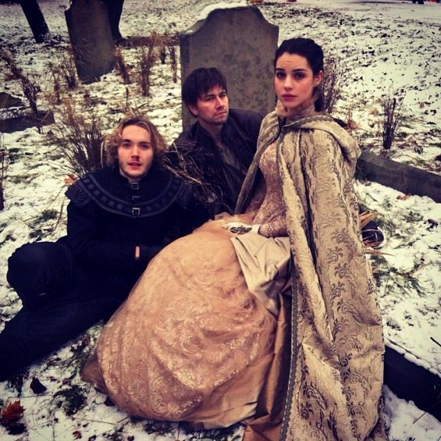 Mary (Adelaide Kane), Francis (Toby Regbo), and Bash (Torrance Coombs) from Reign TV show on the CW. Love this show!