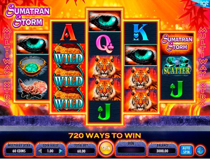 Komm auf Sumatran Insel! Probiere Sumatran Storm Spielautomat zu spielen! IGT Gaming hat es perfekt gestaltet und es macht echt viel Spass das tolles online Spiel Sumatran Storm zu spielen!