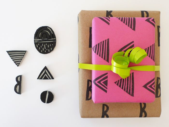 DIY Holiday gift wrap from Cotton & Flax.