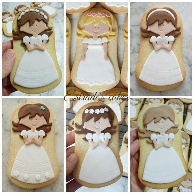 Estrade's cakes: galletas de niñas de Comunión