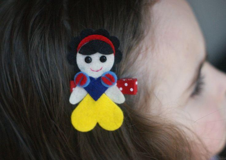 Snow White Inspired Hair Clip