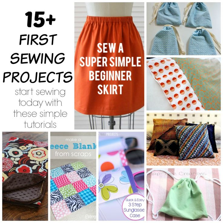 first sewing projects- Simple Sewing projects for beginning sewing students. Perfect for kids or adults who want to learn to sewing - on Nap-Time Creations