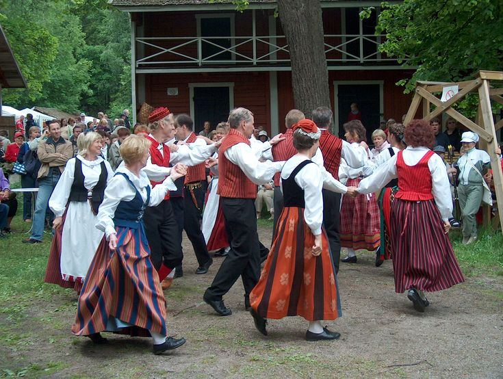 Finnish folk dancing