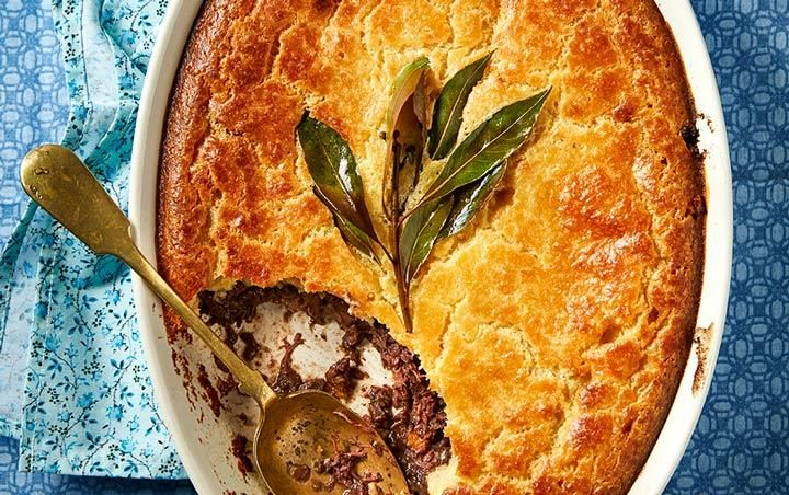 Ouma Miem's venison pie (with Ostrich meat)