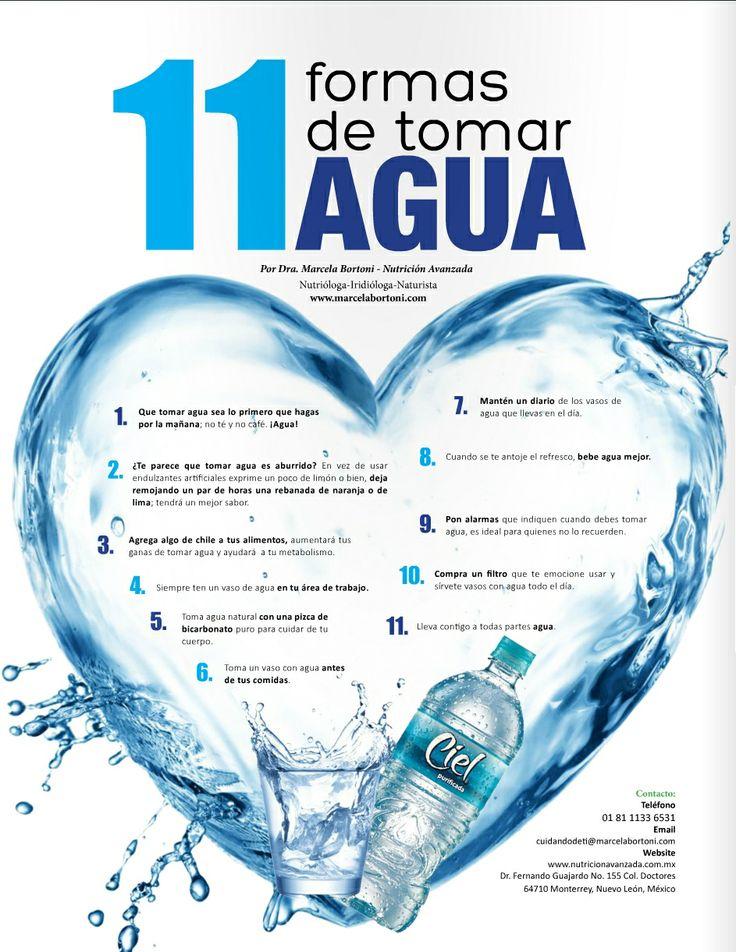 11 formas de tomar mas agua health and fitness pinterest for Toma de agua