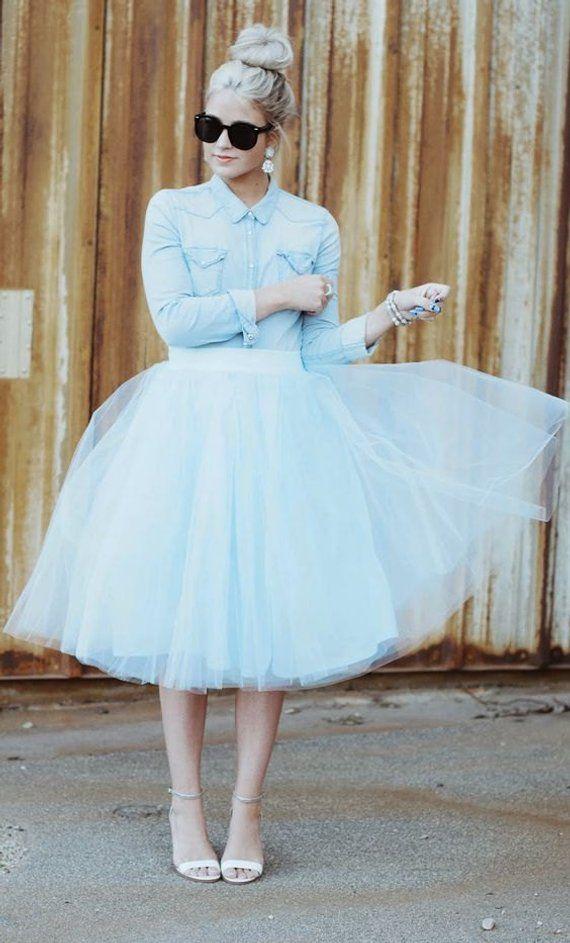 ae629d0a4142a Baby blue tulle skirt