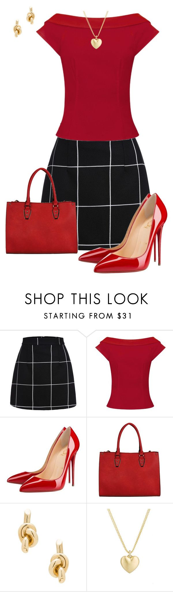 """""""Untitled #782"""" by angela-vitello on Polyvore featuring Christian Louboutin, Balenciaga and Finn"""