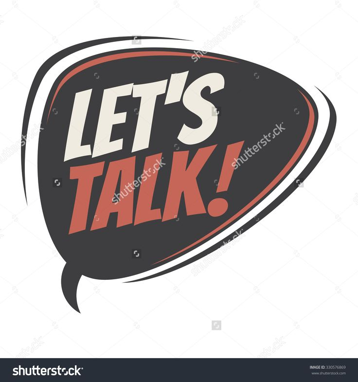 Let'S Talk Retro Speech Bubble Stock Vector Illustration 330576869 : Shutterstock