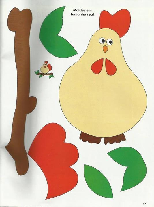 Chicken applique pattern. galinha