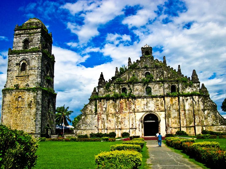 Paoay Church a.k.a St. Augustine Parish (Philippines).  Now that looks like an old church!  Its construction started in 1704 and was completed in 1894 by the Augustinian friars led by Fr. Antonio Estavillo. It is said, that Its construction primarily was intended to withstand earthquakes. And it could test the strength of the walls very soon, because the church was damaged by an earthquake in 1706 and 1927.