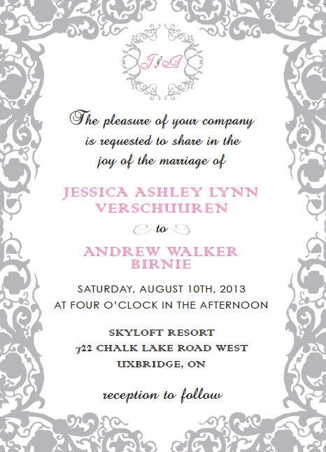 Wedding Invitation made using InDesign