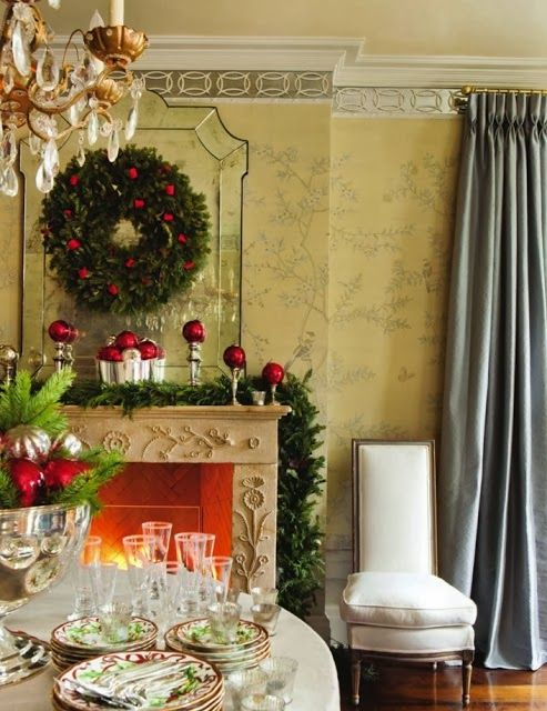 Christmas Dining Room By Suzanne Kastler